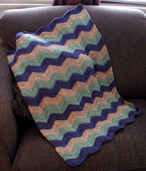 Haley's Ripple Afghan