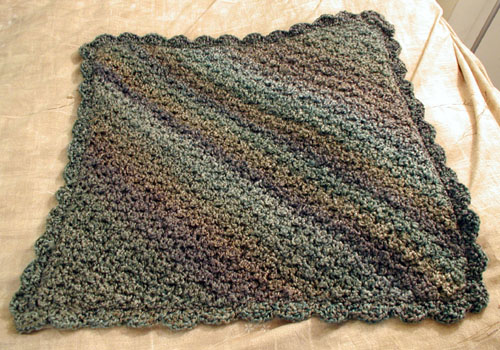 Homespun Baby Blanket in Regency