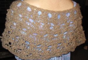 Spiderweb Capelet back
