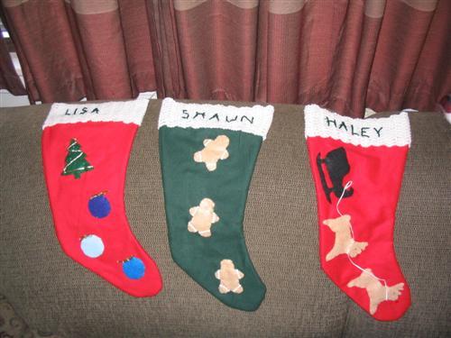 Rust Family Stockings