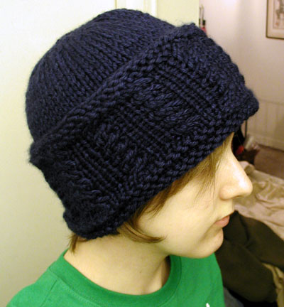 Cabled Wide Brim Hat